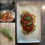 Rezept: Edamame Spaghetti mit roter Sauce